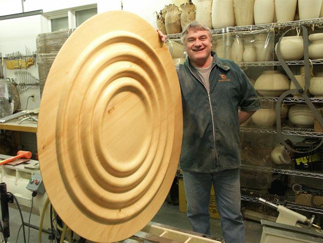 large wood turnings